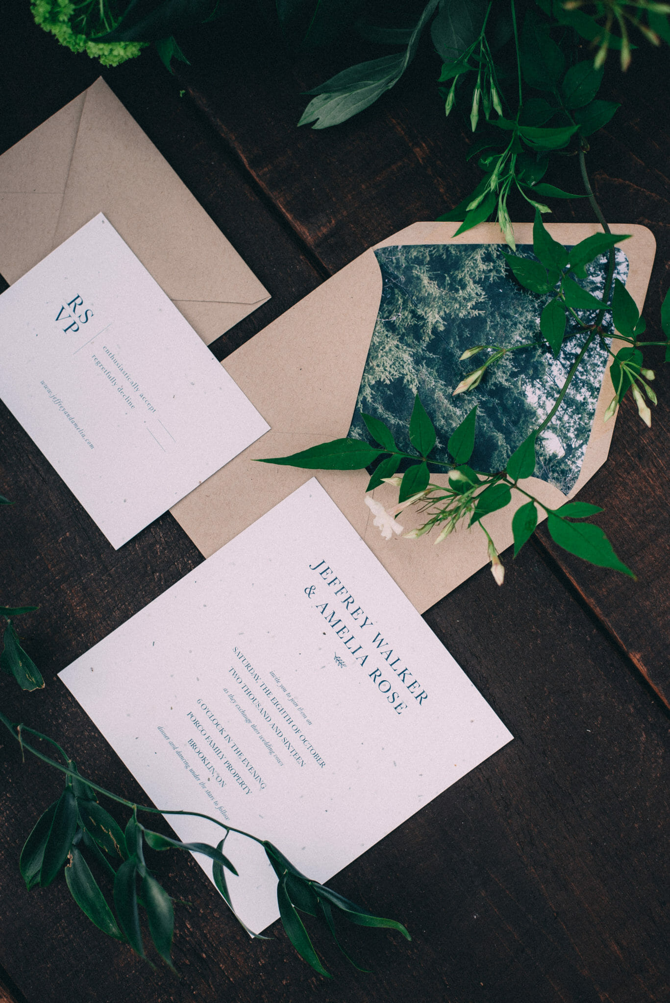 Invitation Suite designed for a camp style wedding