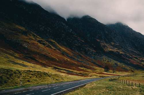 A82 going through glencoe scotland