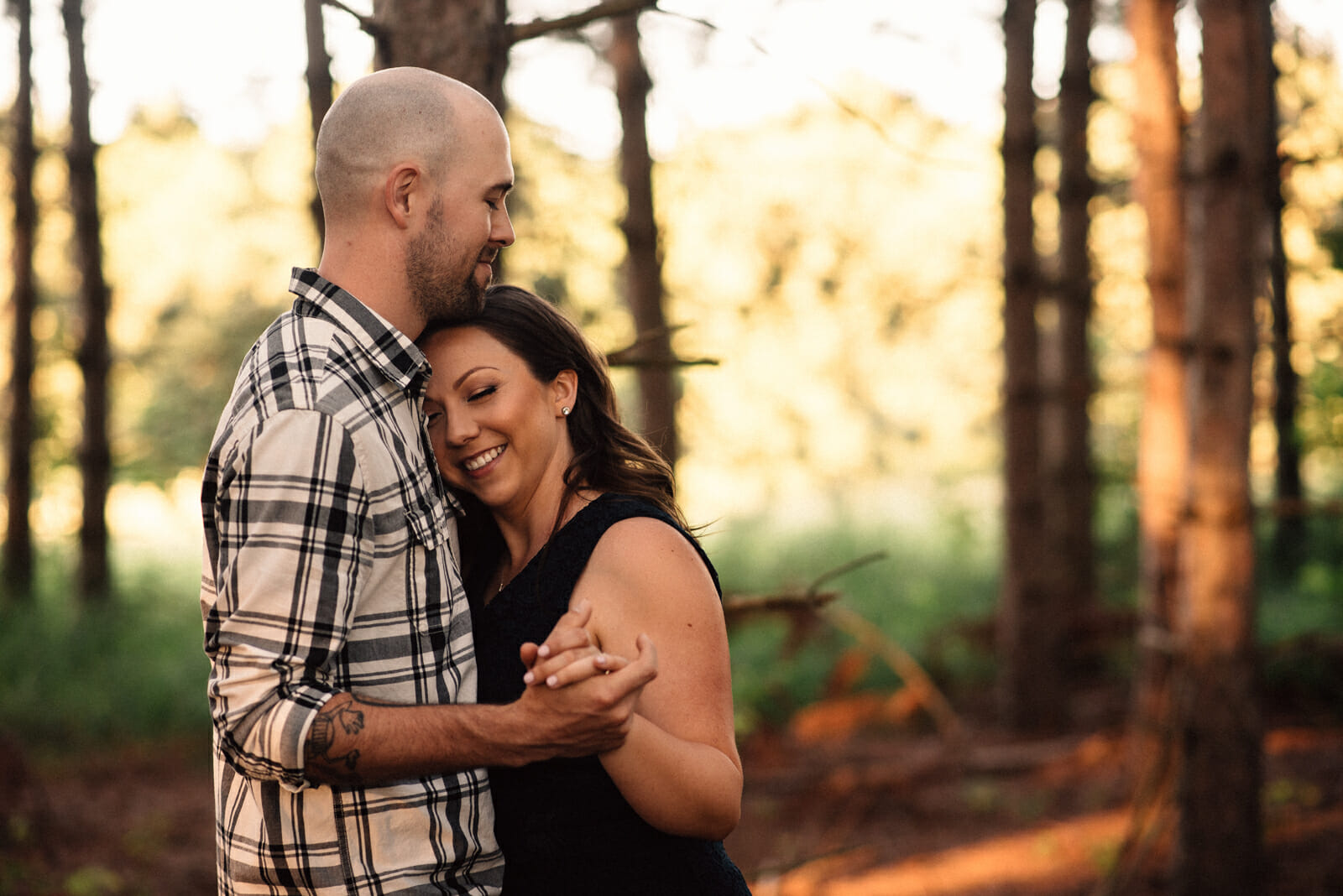 engaged couple photos alliston