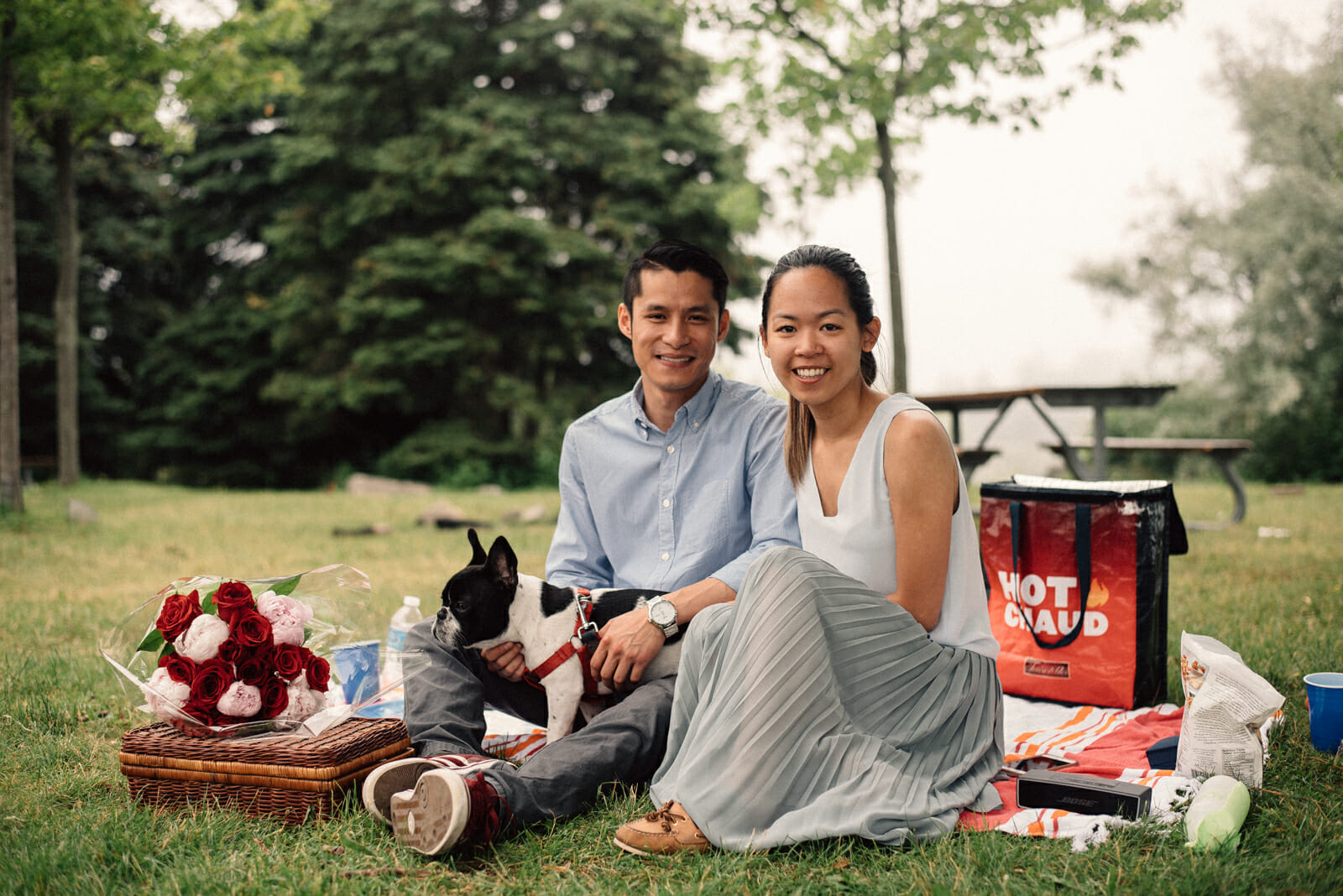 scarborough bluffs engagement photos with dog