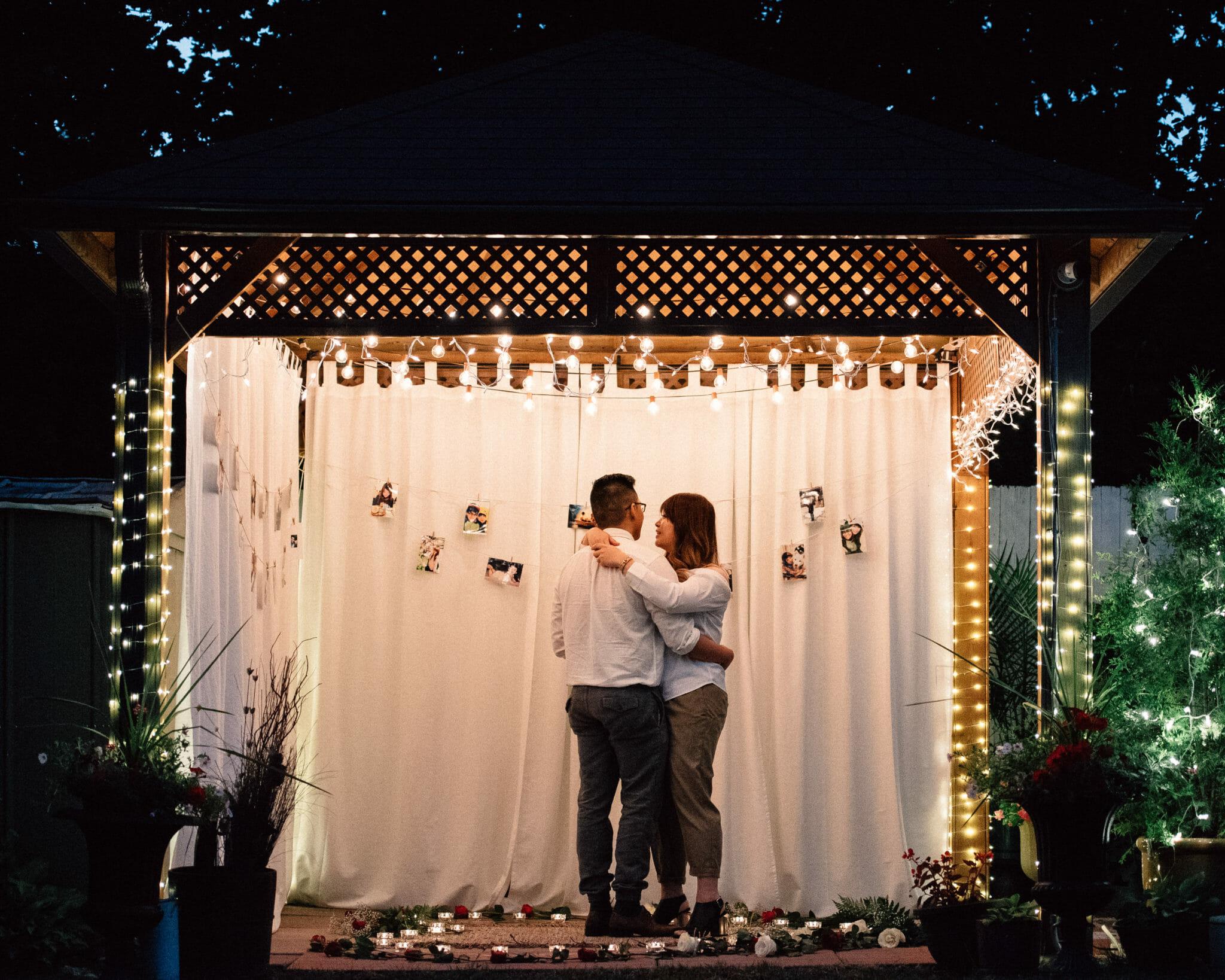 romantic backyard marriage proposal ideas