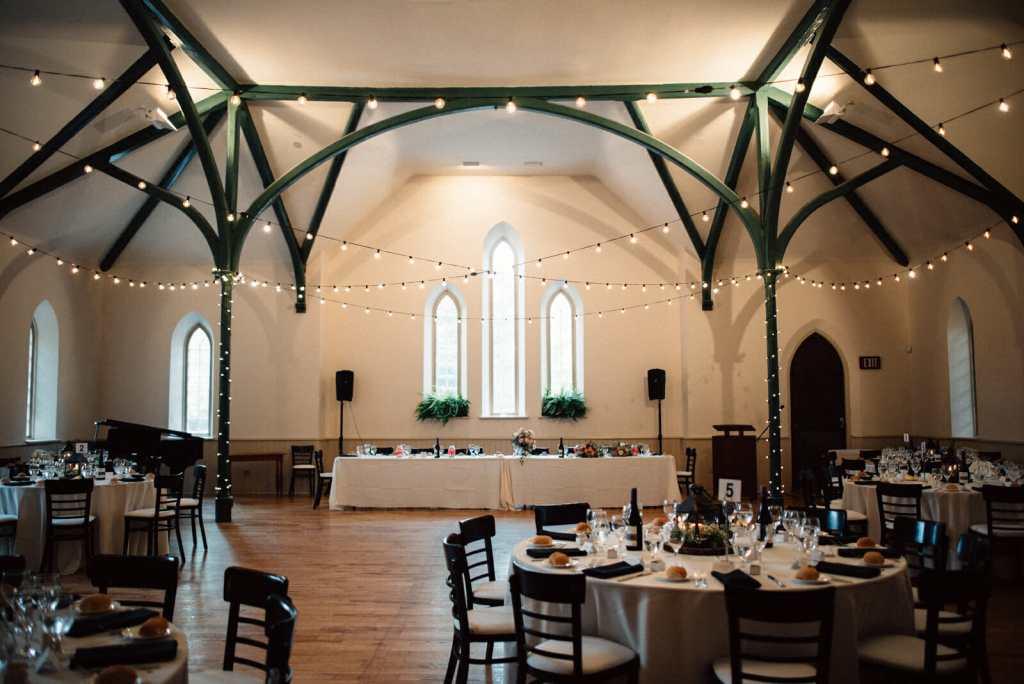 enoch turner schoolhouse set up for toronto wedding reception