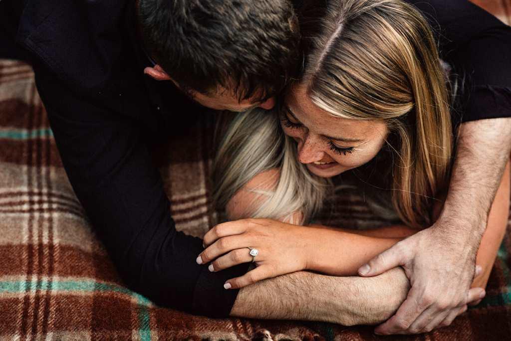 engaged couple photographed by durham region photographers