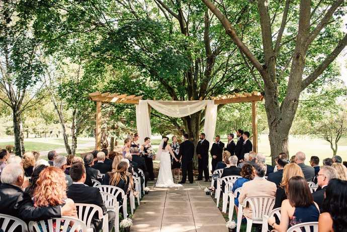 wedding ceremony at kedron dells golf club oshawa