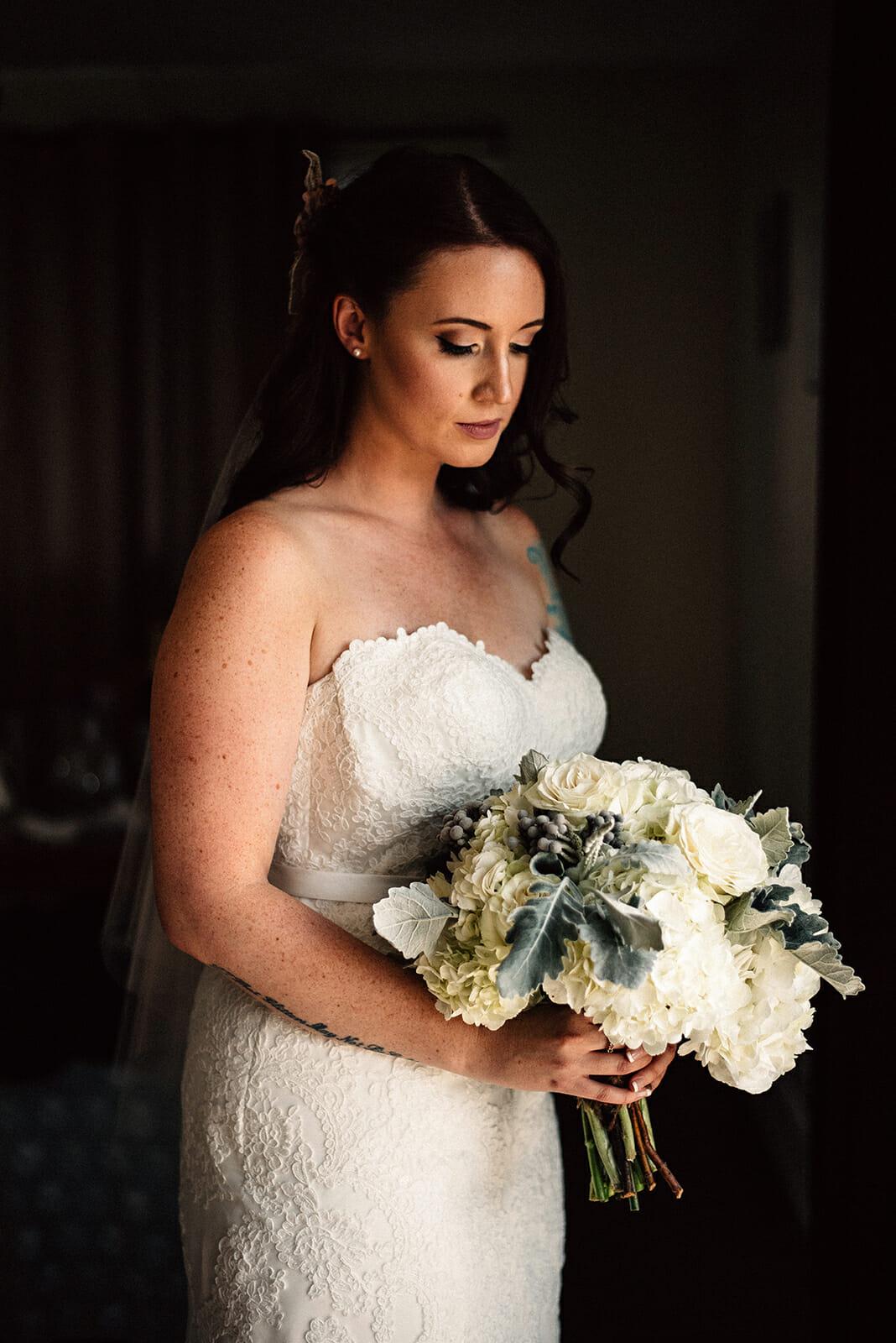 bridal portrait whitby wedding photography