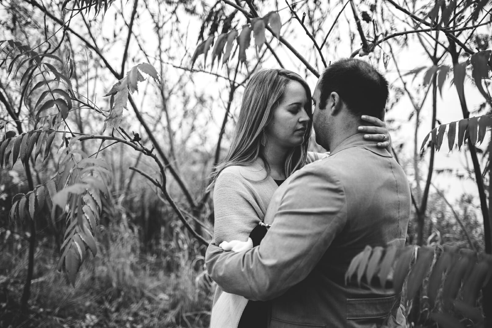 intimate engagement photos toronto