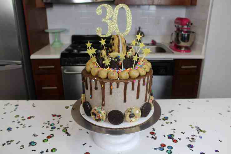 Nutella Oreo Birthday Cake Chelsweets