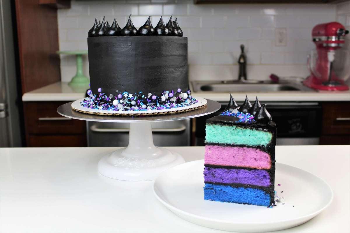 Galaxy Ganache Cake Chelsweets