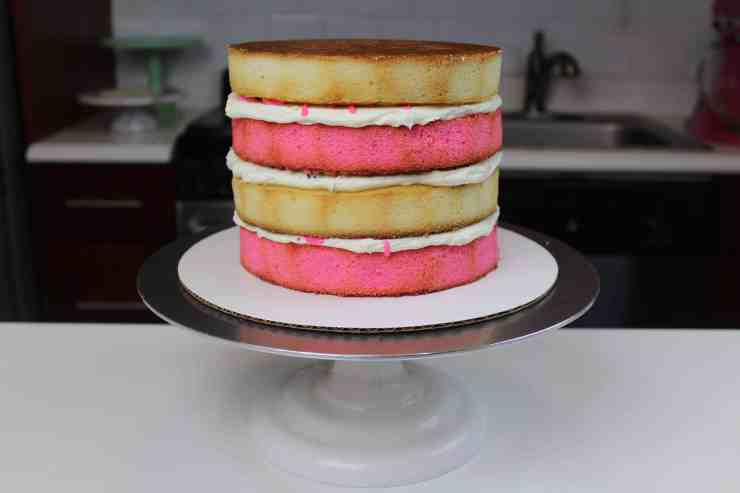 circus animal cake layers stacked