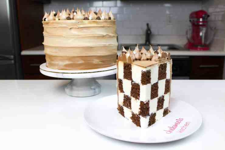 sliced checkerboard cake at angle-2