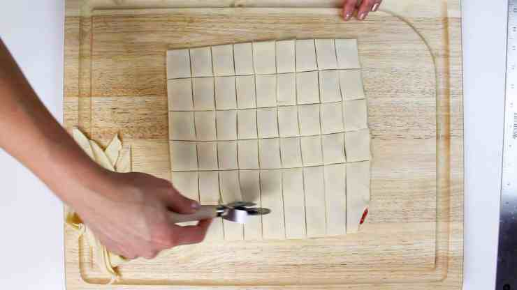 cutting mini poptarts