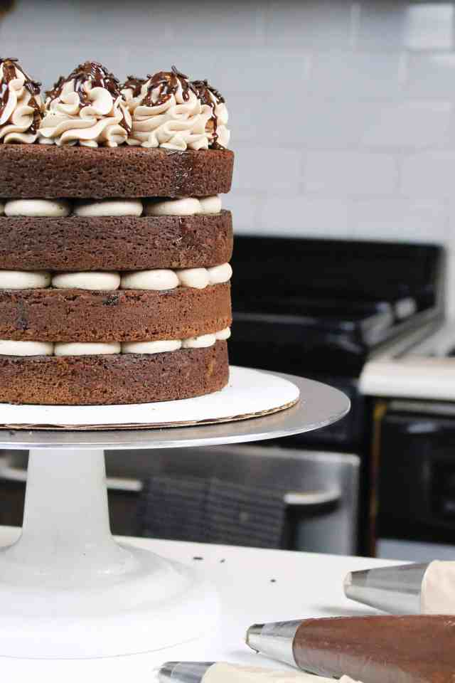 This naked chocolate cake recipe is so simple and delicious!