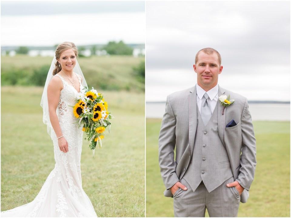sunflower adn navy wedding the links golf course north dakota v