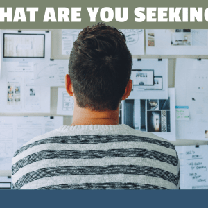 What Are You Seeking?