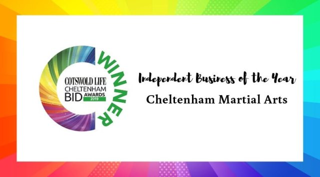 #CLCheltBIDawards Winner of Independent Business of the Year - Cheltenham Martial Arts