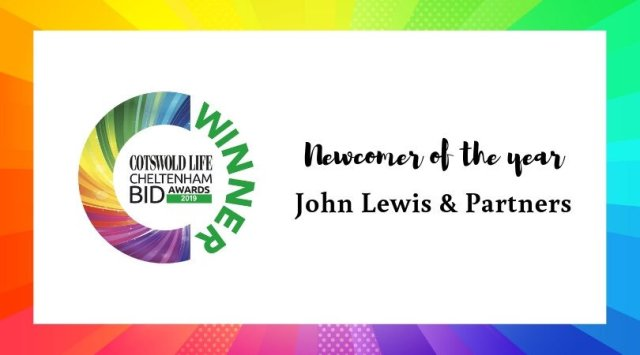#CLCheltBIDawards Winner - Newcomer of the year - John Lewis & Partners