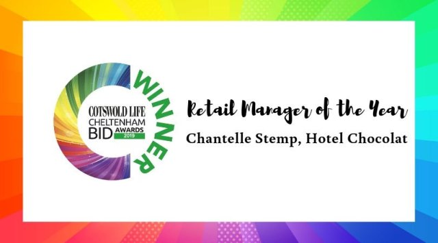 #CLCheltBIDawards Winner of Retail Manager of the Year -Chantelle Stemp, Hotel Chocolat