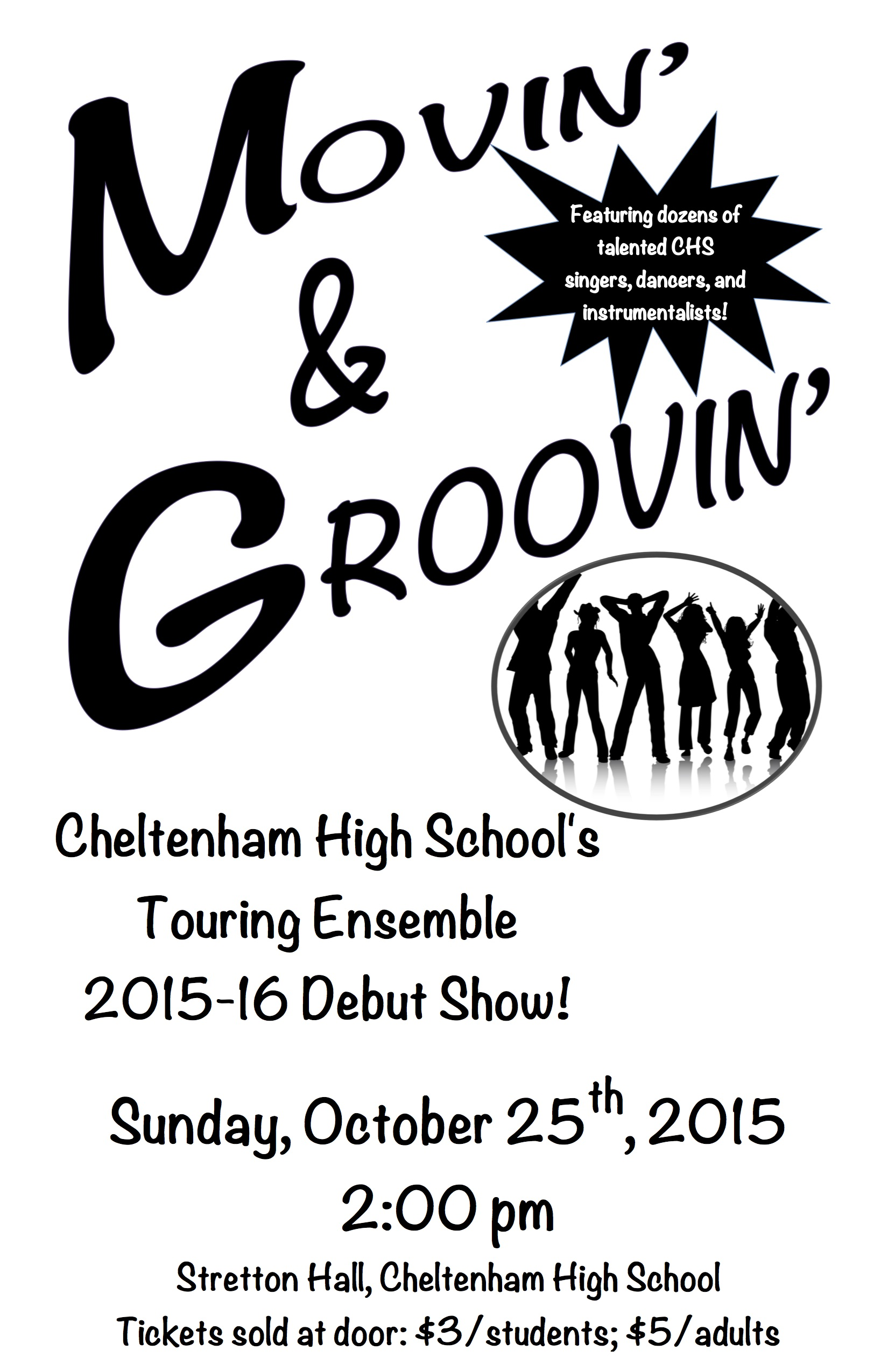 Touring Ensemble Show this Sunday, October 25, 2pm