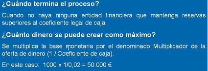 Proceso de creación monetaria III. Formulación matemática.