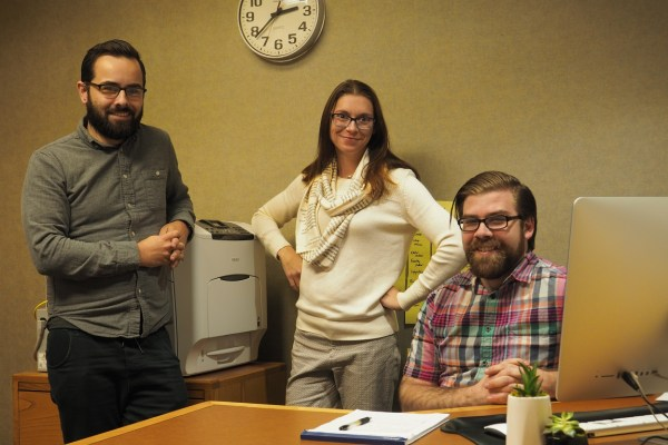 Photo of Ron Cox, Stephanie Lenox, and Brian Mosher