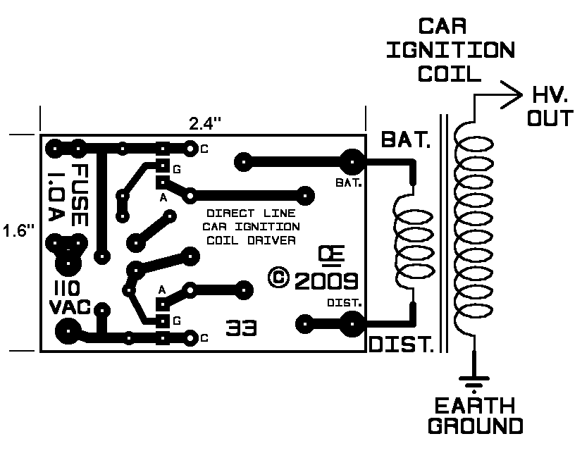 Ignition Coil Driver Schematic, Ignition, Free Engine