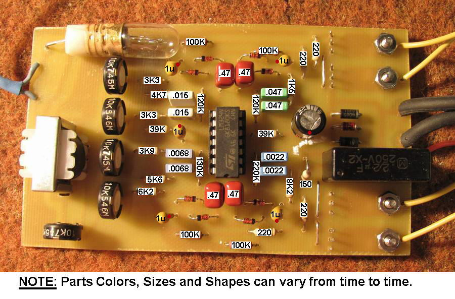 Picture Of The 2 Channel Led Color Organ Circuit