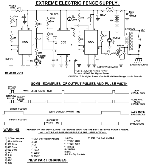 small resolution of electric fence schematic wiring diagram show electric fence hotter more powerful design electric fence