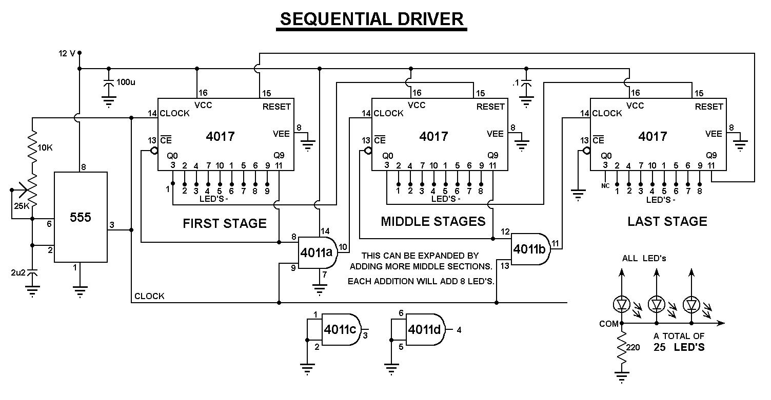 LED CHASER, Sequencer