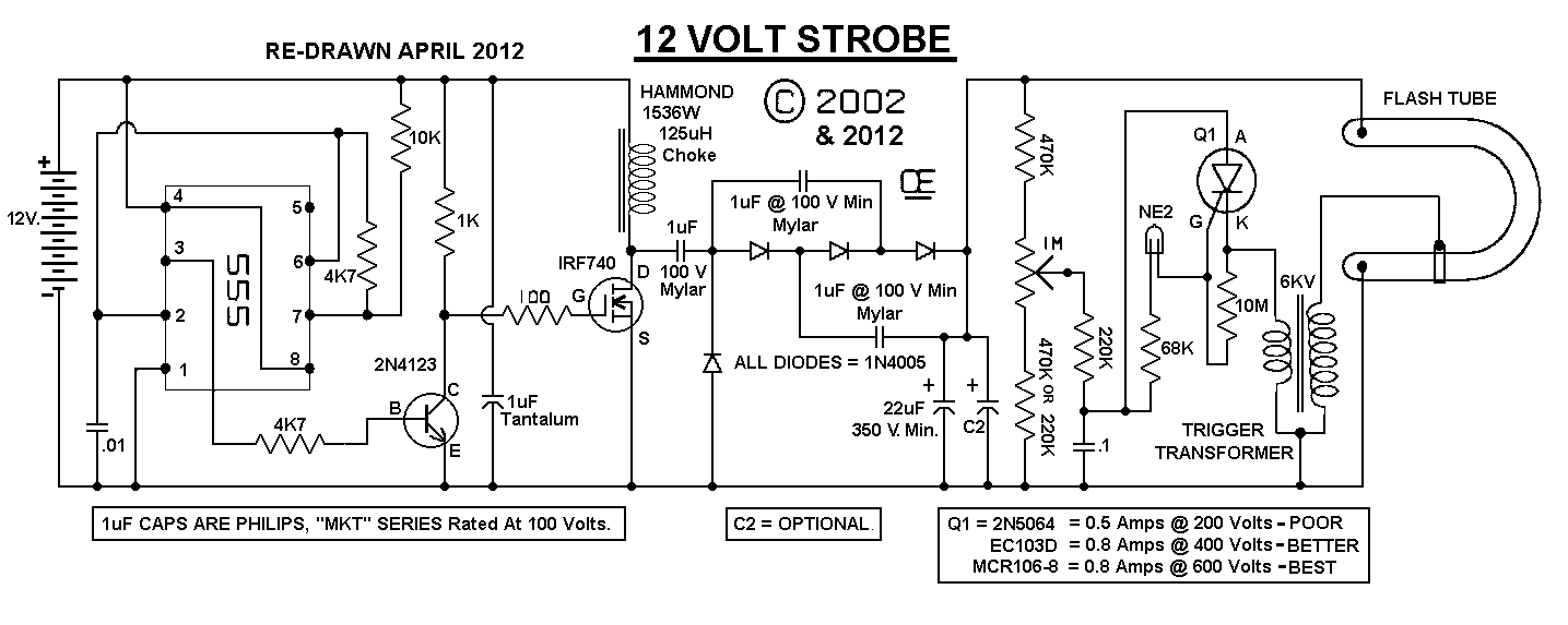 Strobe Light Circuit Diagram