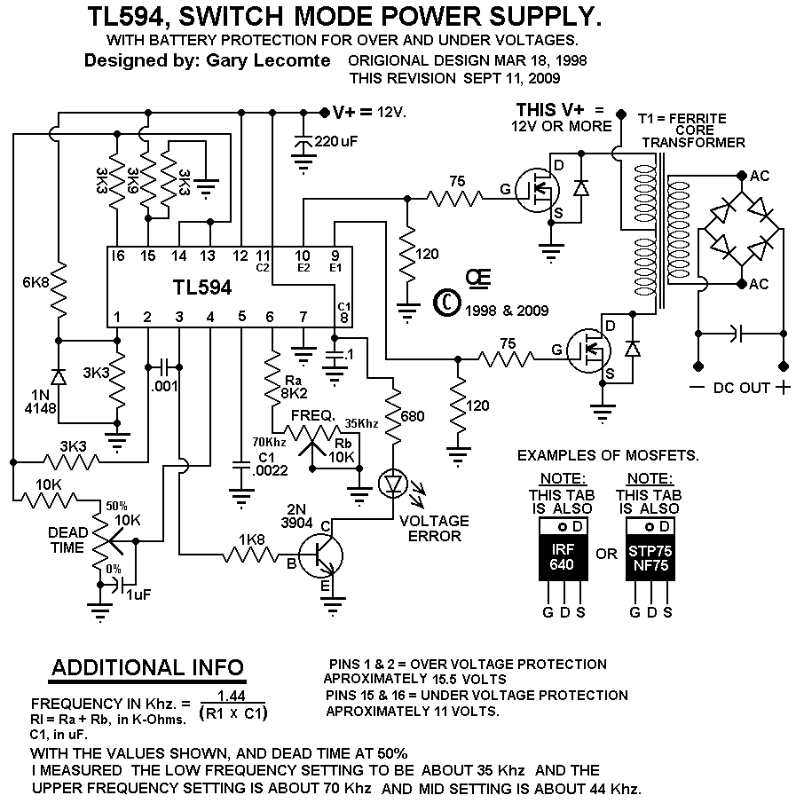 A 12 Volt Switching Power Supply.