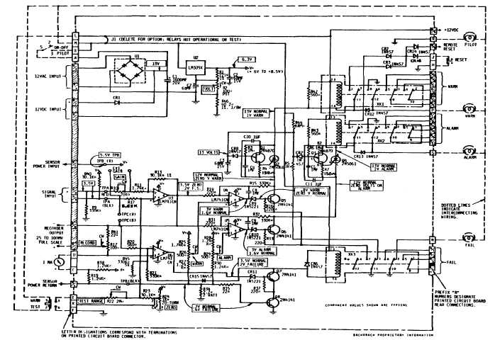 Figure 1-4. CD800/830 Printed Circuit Board Schematic Diagram