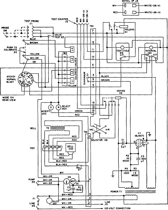 Figure 2. M4A1 outlet valve leakage indicator wiring diagram.
