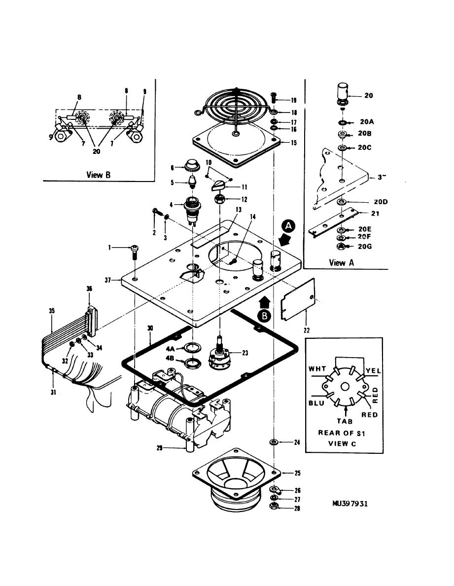 Figure 3-26. Panel assembly, exploded view.