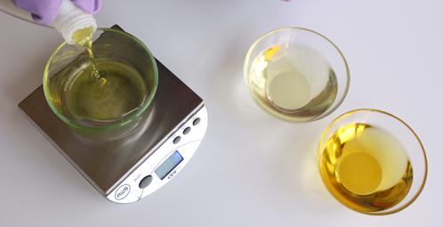 وزن الزيوت المستخدمة فى الصابون الصلب
