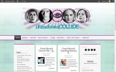 Portfolio Update: iFandomsCollide wordpress theme