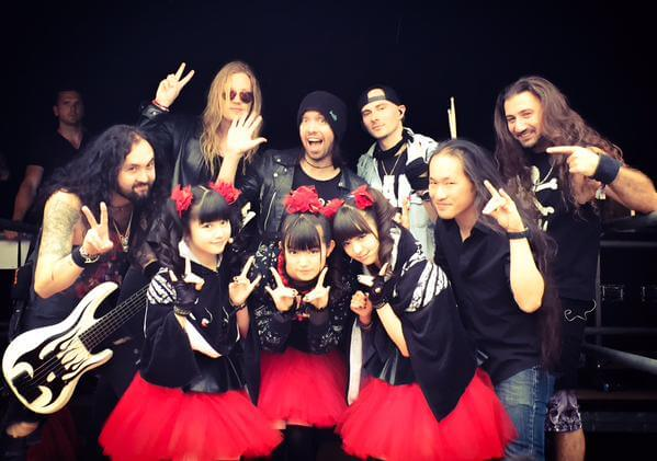 BABYMETAL、DRAGON FORCE