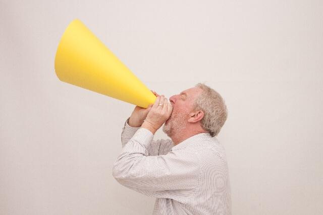 大きな声、声量、音量