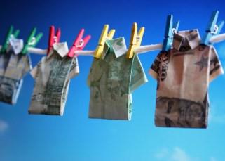 La valeur d'un billet de banque froissé 5