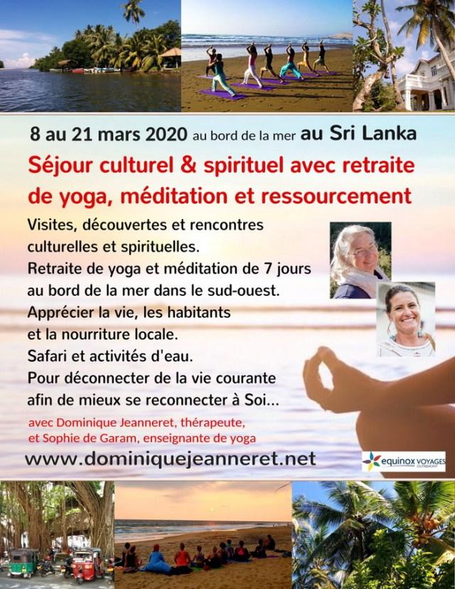 Stages et séjours en France, Belgique, Maroc et Sri Lanka avec Dominique Jeanneret 10