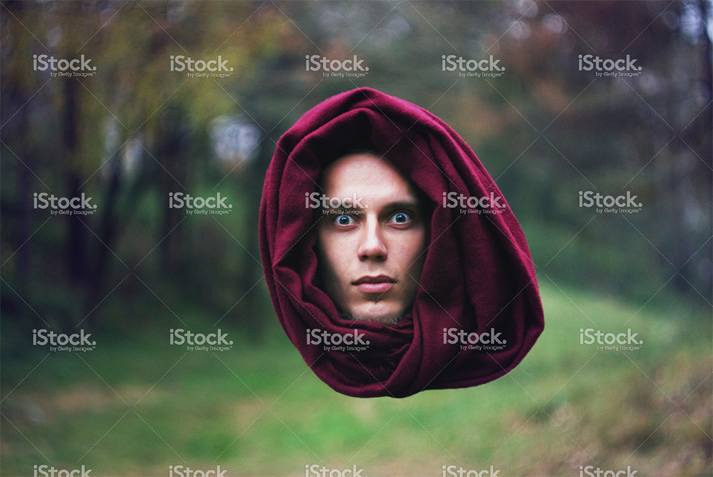 floating head stock photo