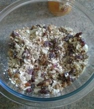 After you mix the nuts, grains, fruits etc you get a very appetizing thing