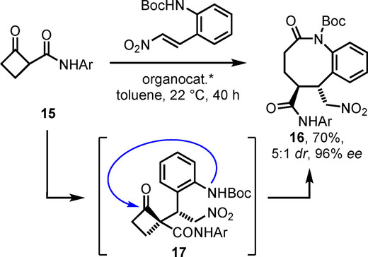 Synthesis of Benzo[b]azocin‐2‐ones by Aryl Amination and