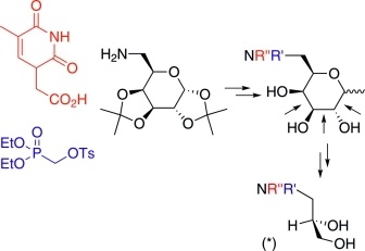 Synthesis of Phosphonoglycine Backbone Units for the