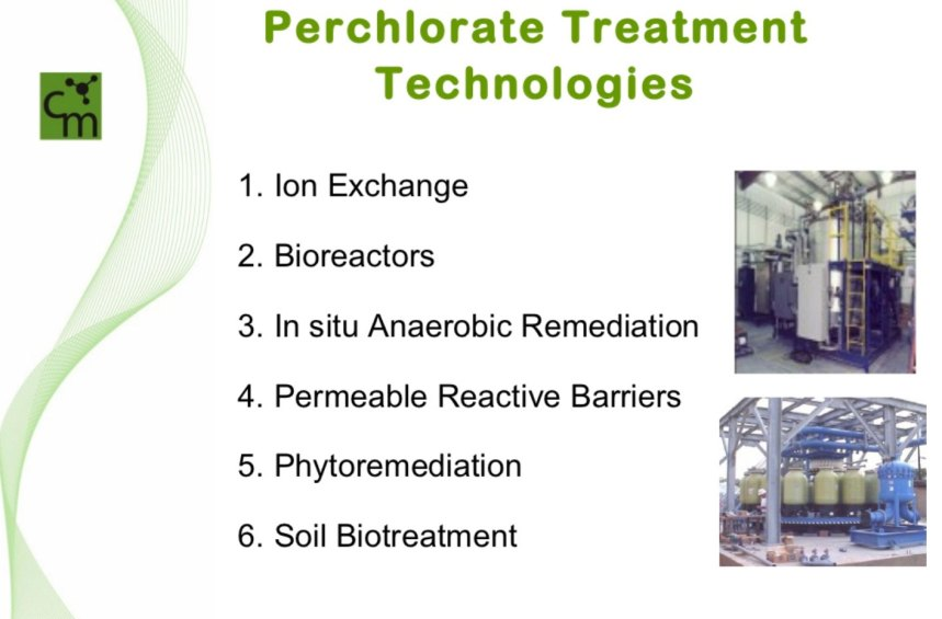 Perchlorate Treatment Technologies