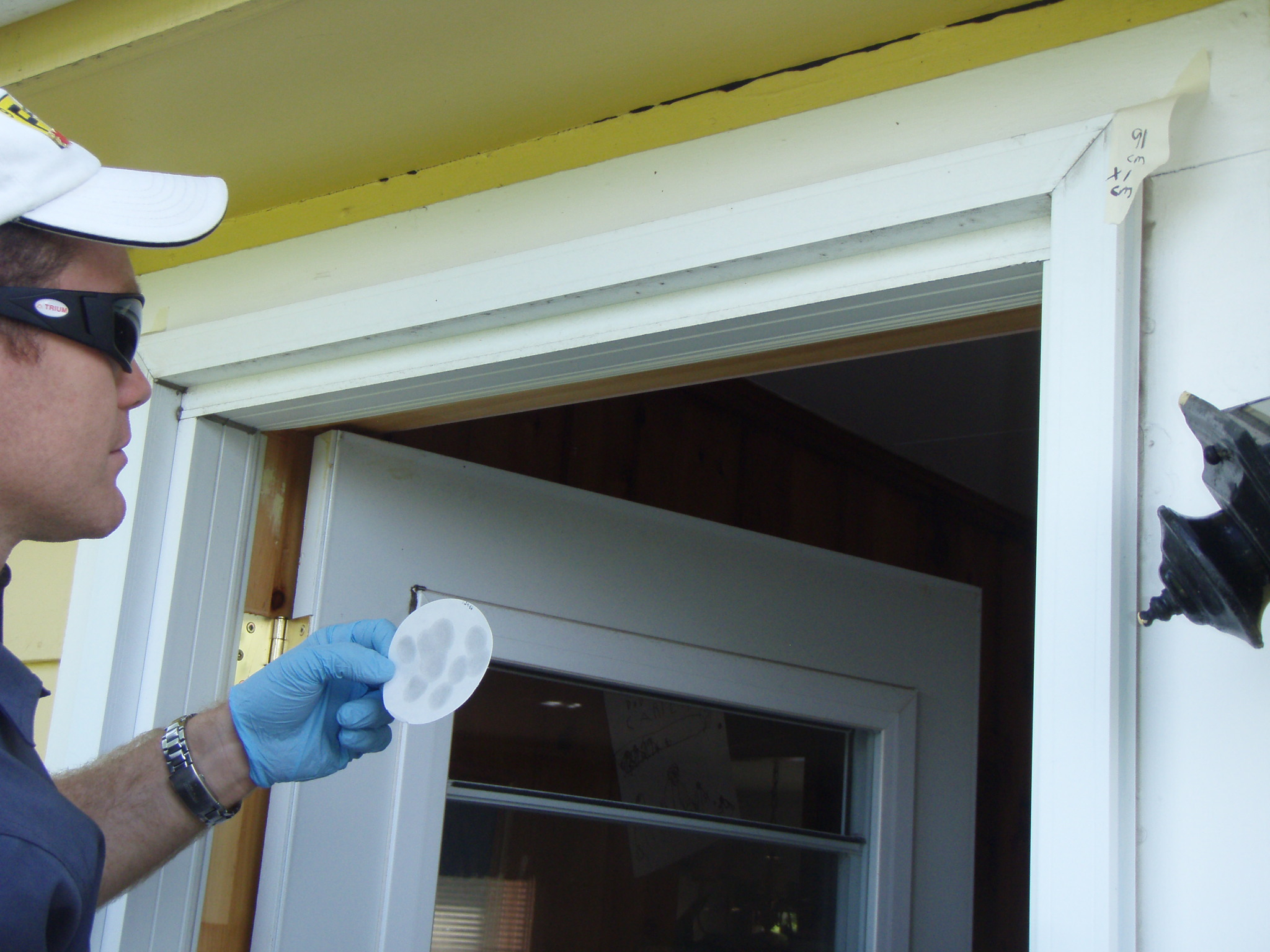 residential dust-wipe for legal sampling to determine contamination