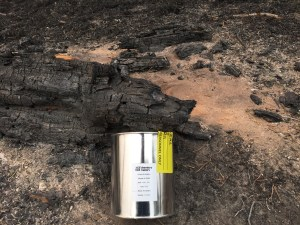 Sample taken from wildfire site for analysis of ILRs