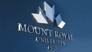 Mt. Royal University Sign