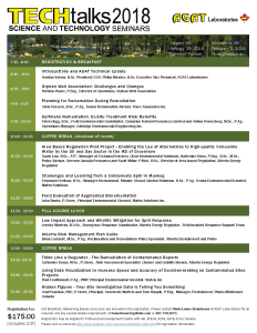 AGAT Science and Technology Talks Itinerary 2018
