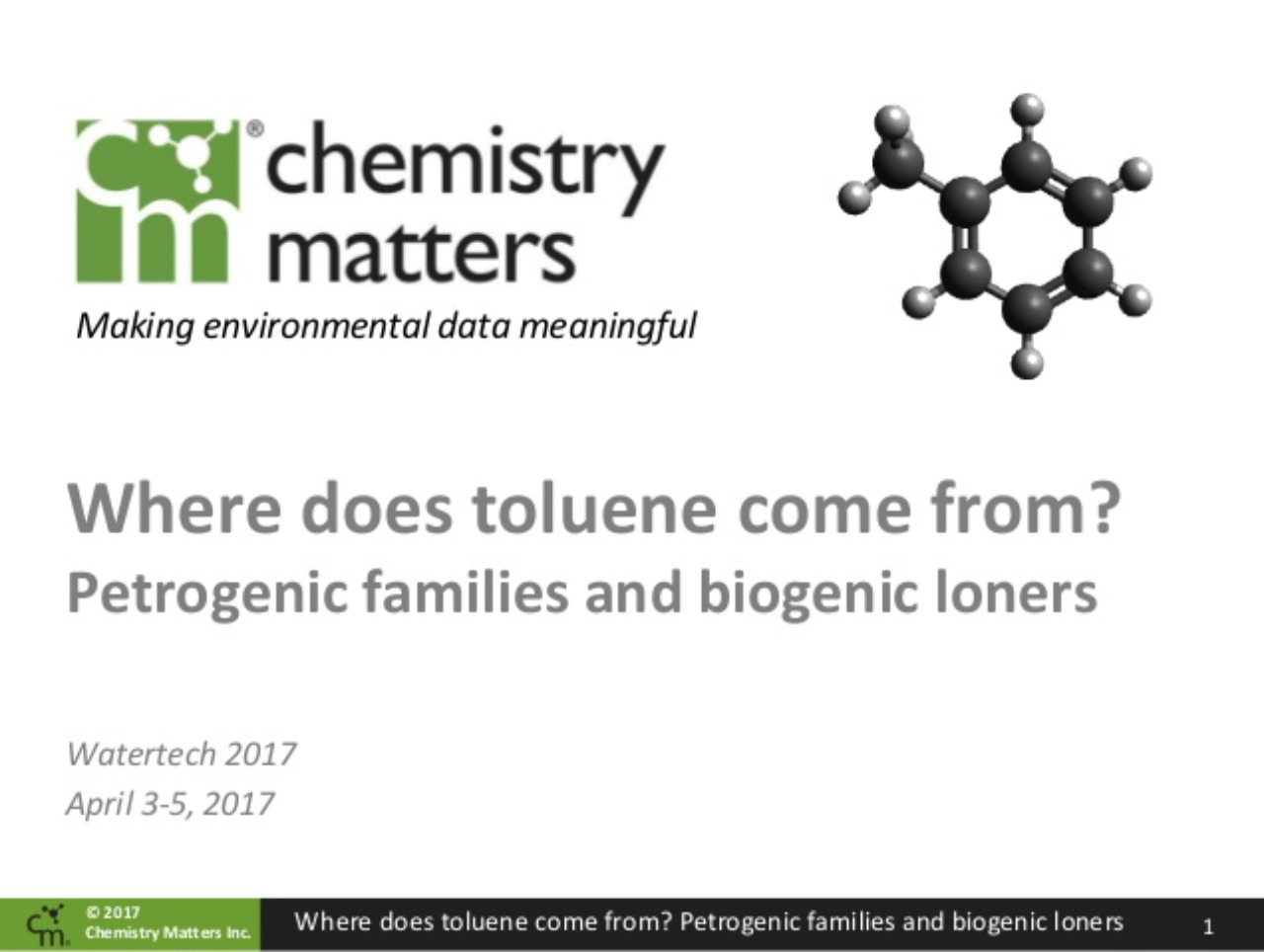 Where Does Toluene Come From? Toluene, Petrogenic Families And Biogenic Loners