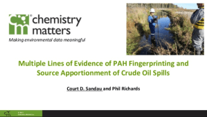 Multiple Lines Of Evidence Of PAH Fingerprinting And Source Apportionment Of Crude Oil Spills